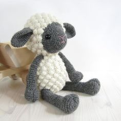 """This written crochet pattern includes all the instructions needed to make your own cuddly toy sheep. Detailed explanations, step-by-step photos and useful tips and tricks make it suitable for beginner crocheters as well, if you have some patience to spare.Pattern is written in English using US crochet terms.SIZE• 32 cm (10 1/2"""") tall, with DK weight (3, light) alpaca wool and a 2,50 mm crochet hook.DIFFICULTY3: Intermediate - includes some more complicated crochet stitches, fleece takes quit... Amigurumi Free, Crochet Amigurumi, Amigurumi Patterns, Crochet Dolls, Knitting Patterns, Crochet Patterns, Amigurumi Tutorial, Craft Patterns, Crochet Designs"""