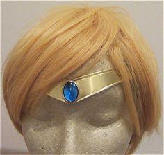 Sailor Moon Mercury Tiara PGSM Smooth Light Blue Gem Metal Cosplay