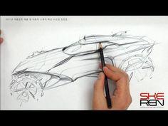 Concept Car Pencil Design Sketch Demo