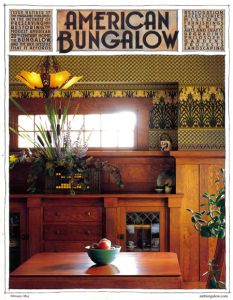 Purchase Here Spring 2008 BUNGALOW FEATURES Arts and Crafts Roots A Down East Bungalow Cottage, Built by Hand by Helen Foster Wanting to build a house that is authentic and makes sense, the stencil… Bungalow Homes, Craftsman Style Homes, Craftsman Bungalows, Bungalow Ideas, Four Square Homes, Prairie House, California Bungalow, Craftsman Furniture, American Craftsman