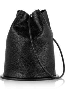 Finds + Building Block Disc textured-leather bucket bag | NET-A-PORTER
