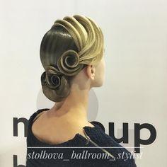 Вallroom hairstyle by Darya Stolbova Имидж-студия @artecreo Запись/Booking: +7 (977) 804-22-01 / Direct. #ballroom #ballroommakeup #ballroomhairstyle  #artecreo #артекрео #stylistStolbova Ballroom Dance Hair, Ballroom Jewelry, Dancer Hairstyles, Competition Hair, Evening Hairstyles, Hair Setting, Hair Arrange, Hair Art, Hair Designs