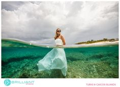 Johanna and Daniel take the plunge in Turks and Caicos for a Trash The Dress shoot with Brilliant Studios