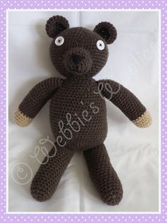 Hey, I found this really awesome Etsy listing at https://www.etsy.com/listing/206743129/adorable-crocheted-mr-bean-teddy-bear