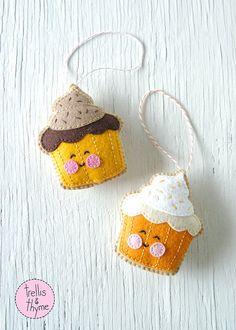 PDF Pattern Cupcake Halloween Thanksgiving Felt by sosaecaetano