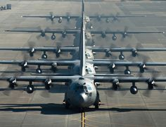 ❦ Hercs in a row by Official U.S. Air Force on Flickr.