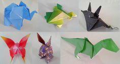Animali origami fatti a mano