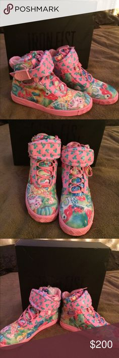 Iron fist limited edition my little pony shoes Iron fist limited editiom my little pony high tops comes in original box no tags never been worn in excellent condition between a size 6-7 Iron Fist Shoes Sneakers
