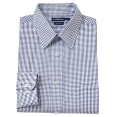 Big & Tall Croft & Barrow Fitted Checked Dress Shirt,