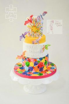 Sugar Art 4 Autism More than Words - Cake by Jenny Kennedy Jenny's Haute Cakes