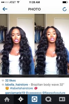 "Her hair is Gorgeous but I'd never get 32"" that's just too much for me!"