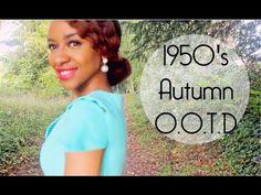 OOTD    Blue Autumn 1950's Inspired - YouTube