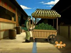 Avatar The Last Air Bender Animation - Cabbage Guy! Cart in tact.