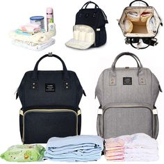 4b86cb242a Details about Genuine LAND Multifunctional Baby Diaper Nappy Backpack  Waterproof Changing Bag
