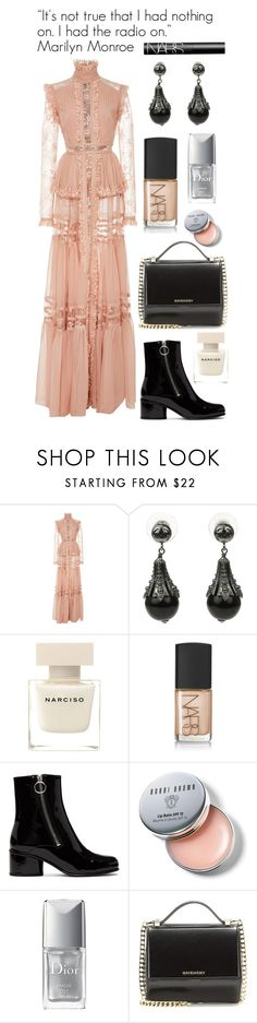 """""""26.08.2017"""" by chrissy6 ❤ liked on Polyvore featuring Elie Saab, Chanel, Narciso Rodriguez, NARS Cosmetics, Marc Jacobs, Bobbi Brown Cosmetics, Christian Dior and Givenchy"""