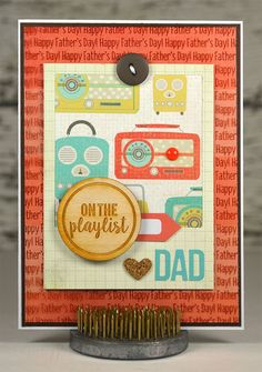 Music Lover Fathers Day Card  Vintage Radio  by thecardkiosk