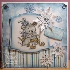 My Crafty Life: Let It Snow!! :)    Handmade Christmas card, Lili of the Valley,  LOTV