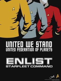 possible enlistment poster in the 23rd century