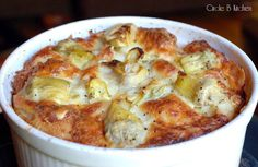 Artichoke Bread Pudding - Circle B Kitchen - Circle B Kitchen