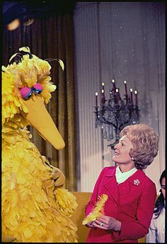 It's the birthday of Jim Henson!  Here's First Lady Pat Nixon with Big Bird in the East Room of the White House.  12/20/70.    Many cheers to Jim Henson (9/24/36 - 5/16/90) and also to Pat Nixon, whose Centennial birthday celebration is happening now too.