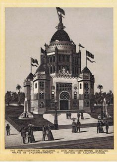 Administration Building Midwinter Fair in Golden Gate Park. Souvenir booklet about San Francisco in 1894. From the collection of Bob Bragman