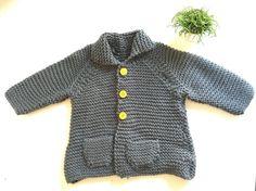 Grey Knitting jacket by ElPiOjo on Etsy