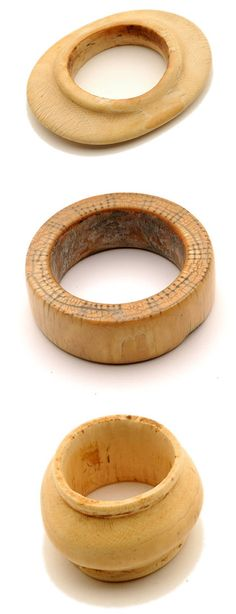 Africa | Ivory bracelets from the Nuer, Murle people of Sudan | 20th century
