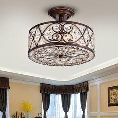 flush mount dining room light. Warehouse of Tiffany Quiver Crystal Antique Bronze 14 inch 4 light Semi  flush 16 189 Jolie Black Drum Shade Flush Mount
