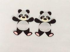 Glitter felt Pandas X Die Cut Embellishments, Card, Craft Toppers, Handmade Cut Animals, Scrapbook Paper Crafts, Handmade Crafts, Embellishments, Felt, Glitter, Ebay, Pandas, Ornaments