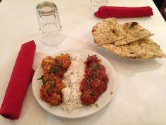 Vegetarian Platter (Chef Creations): Alu Gobi Masala and Kofta Sixty-Five at Nirvana Indian Cuisine