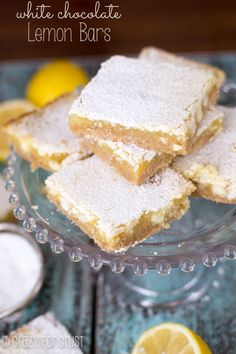 White Chocolate Lemon Bars | crazyforcrust.com
