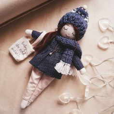 Handmade doll - it's cold outside