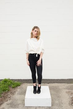 Cocoon Tie Top // Ivory Cotton Woven via RUBA RUBA. Click on the image to see more!