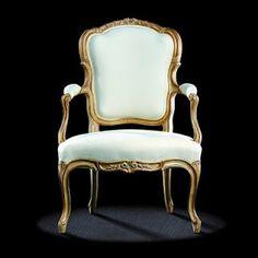 Antique French Furniture Cabriolet Louis XV Armchair. Circa 1760.