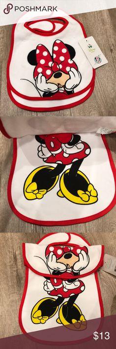 Minnie Mouse 2 pack Feeder Bibs New 💝 Disney Accessories Bibs
