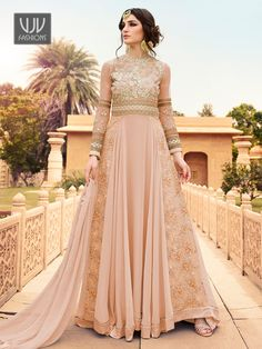 Anarkali Suits - Buy Indian Anarkali Suits with the latest designs and attractive offers online. Best collection of Partywear and festive wear Anarkali Dress for women. Indian Anarkali Dresses, Eid Dresses, Indian Salwar Kameez, Anarkali Suits, Long Anarkali, Georgette Dresses, Bridal Dresses, Designer Anarkali, Designer Salwar Suits