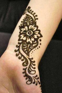 Inner wrist henna
