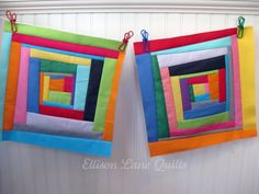 Wonky Log Cabin Quilt Block Tutorial - Ellison Lane *I'll be making a wonky Log Cabin quilt in my next class!*