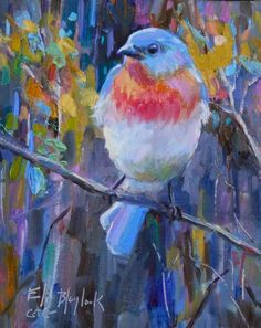 Daily Paintings By Elizabeth Blaylock, American Impressionist: A BLUEBIRD KIND OF DAY
