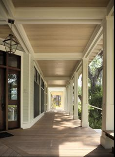 front porch ceiling and columns