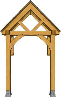 2 POST PORCHES — TIMBER FRAME PORCHES Front Door Awning, Front Door Canopy, Porch Awning, Porch Roof, Door Overhang, Porch Uk, House Front Porch, Cottage Porch, Front Porch Design