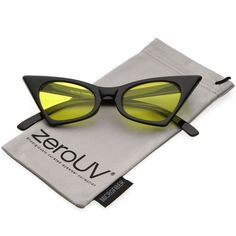 ed5fc820cb6f zeroUV - Retro Small High Pointed Tinted Colored Oval Lens Cat Eye  Sunglasses 46  fashion  clothing  shoes  accessories  mensaccessories ...