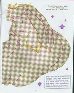 Plastic canvas princesas