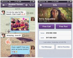 Free app: Viber Keep in touch with your family and friends using free texting and free voice calls, no matter how far away you are from them. This is essential if you're studying abroad.