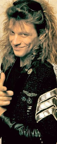 "Jon Bon Jovi - ""Slippery When Wet"" era (1986-1987). @anderbj   Tumblr"