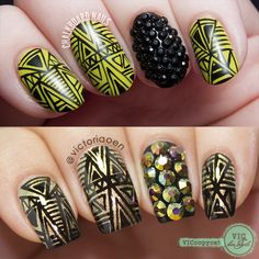 Vic and Her Nails: VicCopycat - Wasabi and Caviar by Chalkboard Nails (and BPS Review) Uv Gel Nails, Diy Nails, Curly Hair Care, Curly Hair Styles, Chalkboard Nails, Victoria Secret Perfume, Rainbow Nails, Manicures, Caviar