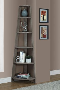 Dark Taupe Corner Accent Etagere on @HauteLook
