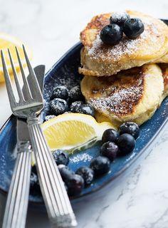 Ricotta pandekager med citron - skøn og nem opskrift