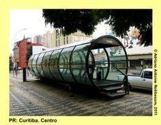CURITIBA: Images from a bi-articulate bus  http://insiderbrazil.wordpress.com/2012/02/26/travel-in-brazil-curitiba-06-images-from-the-rear-of-a-bi-articulate-bus/