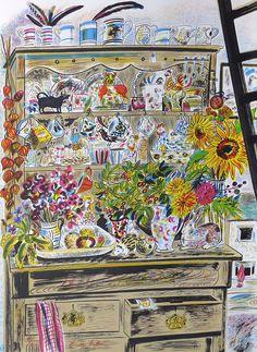 September Dresser #Emily-Sutton #featured #lithograph